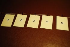 Advent Line - Blank Numbers ready to start!