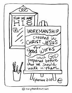 His-Workmanship-Printable-Bible-Verse-Coloring-Page-MarydeanDraws-image